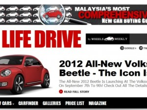 Live Life Drive is Innity's Website Of The Month!